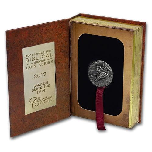 Lion Biblical Silver Coin