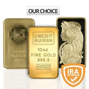 10 oz Gold Bar (Our Choice)