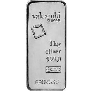 Valcambi Cast Silver Bar