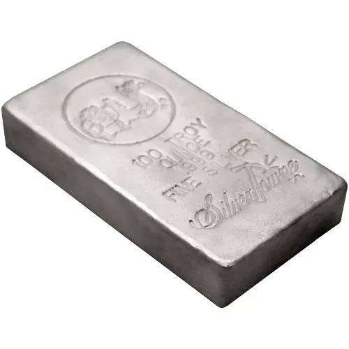 100oz SilverTowne Poured Silver