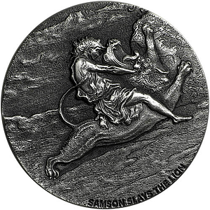Lion Biblical Silver Coin